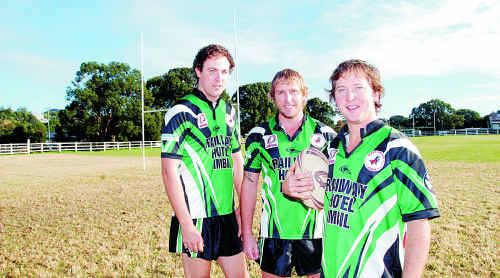 The Mary Valley Stags will be the first senior rugby league side to play at the Imbil showgrounds in more than 50 years. Pictured form left are Ashley Grant, Brad Carlson and Daniel Ferguson.