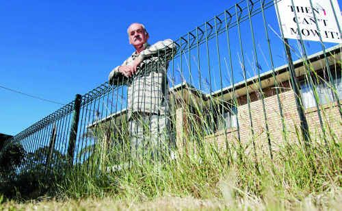 Allen Rea supporter Keith Kelley has had the grass on his nature strip slashed by a council crew.
