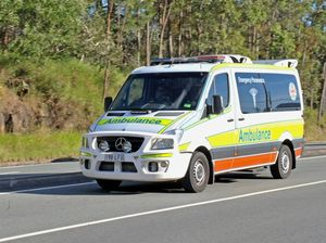 Vehicle crosses road and lands in ditch on Emu Park Rd