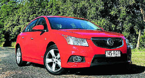 RACY STYLING: The Holden Cruze SRi is having a red hot go at the mid-range market.