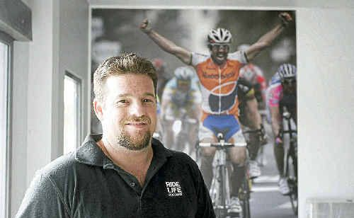 Troy Mogg is looking forward to opening his new bike store, Giant Cycling World Rockhampton.