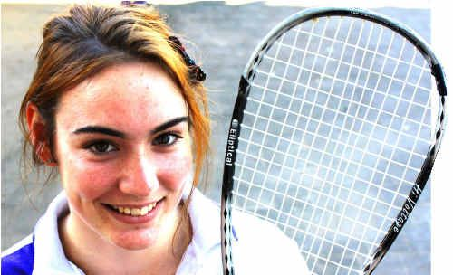 SERVICE WITH A SMILE: Young Maryborough squash ace Hannah Jamieson will be on Queensland duty again later this year after being in smashing form in the state titles.