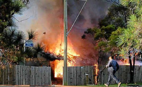 A house in Beerwah exploded yesterday. Photo contributed