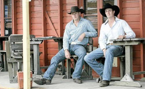 Two New Zealand cowboys Jared Mee and Ryan Burns are hoping the crowd at Saturday's rodeo don't see Kiwis fly.