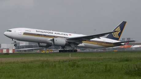 Flight SQ-7108 was forced to land in Indonesia because of the farts (file photo).