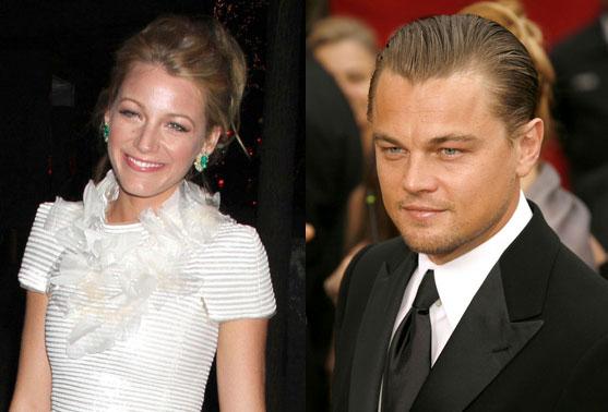 Blake Lively and Leonardo DiCaprio.