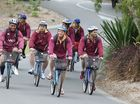 Queensland State of Origin team training at the Coolum Hyatt.
