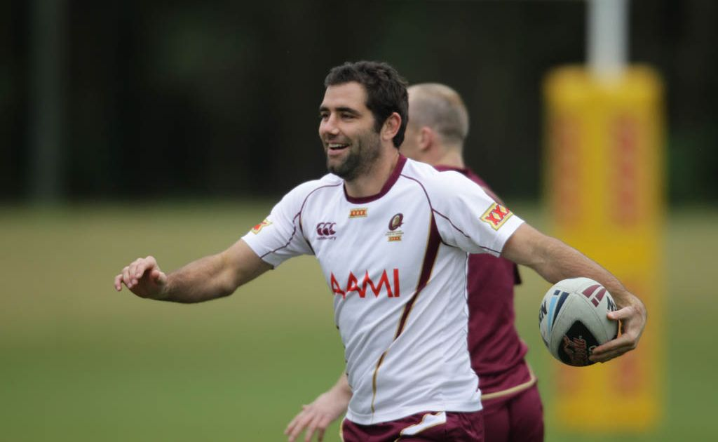 Queensland State of Origin team training at the Coolum Hyatt, Cameron Smith.