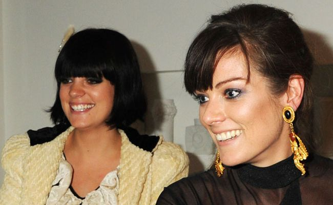 Lily Allen and sister Sarah Owen.