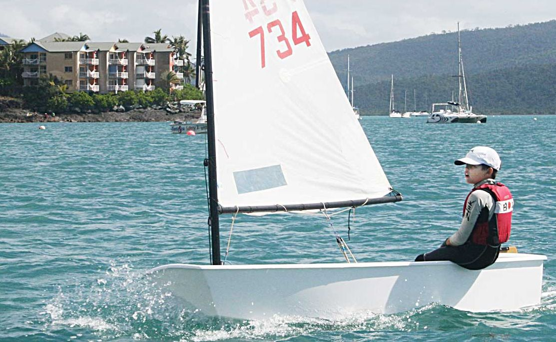 ALWAYS LEARNING: People of all ages are encouraged to head down to the Whitsunday Sailing Club this Sunday to try their hand at sailing with local sailors such as Hamish Swain.