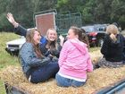 The Orara Valley Fair hay ride is always popular with the young folk.
