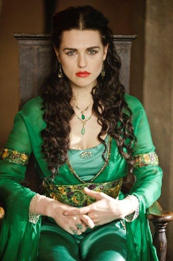 Katie McGrath plays Morgana in Merlin.