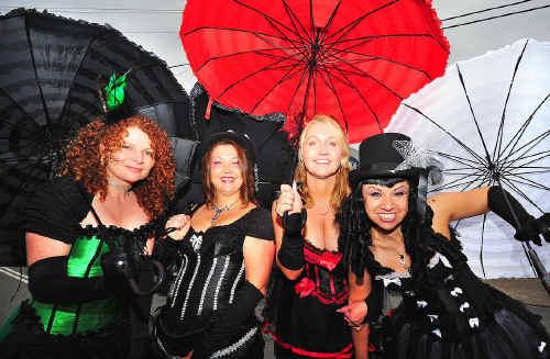 Melissa McAndrew, Kellie Fielding, Julie Muza and Claudia De Cola celebrating yesterday's Pub Fest in style.