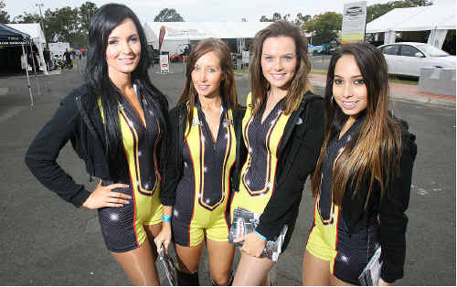 It was certainly cold and rainy weatherwise, but the stunning Winternats promotional girls were on hand on Saturday to add a little style and warmth trackside.