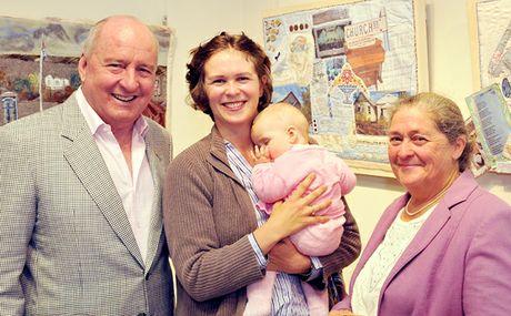 New Hope critics Alan Jones, Tanya Plant and Merilyn Plant.