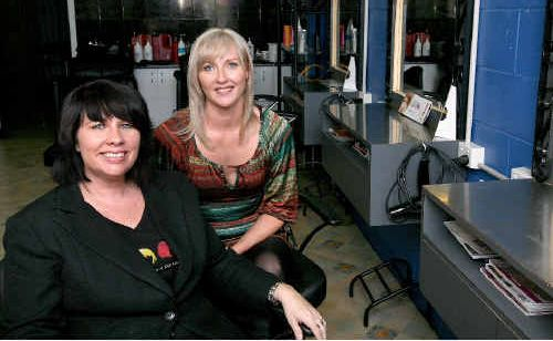 Hair Trends salon owner-manager Michelle Cowe (left) is taking on freelance hairdressers such as Renae Townsend (right) so they can run their own business within her salon.