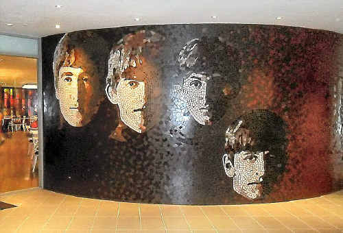 The Hard Rock Hotel boasts exceptional bars, restaurants with the best pizza outside Italy, live entertainment and this giant mosaic mural of the Beatles in the foyer.