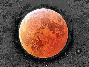 Red moon to rise