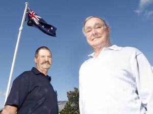 Flag flutters after patriotic flap