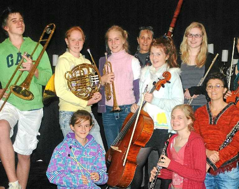 Members of the Cooloola Community Orchestra are ready to entertain at Memorial Park this Sunday from 12 noon.