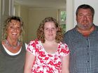 Jessica Pera (centre) with her parents Monika and Jurgen Pera in happier times.