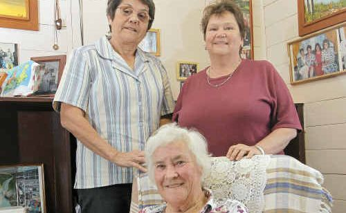 From left, Patsy Weekers, Monica Crosby and Patricia Keleher hope to be able to see the movie Sunshine and Oranges here in Rockhampton.