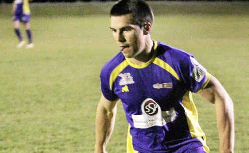 Capricorn Cougars full-back Matthew Sauer worked tirelessly during his side's 5-1 defeat to Brisbane Strikers on Saturday night.
