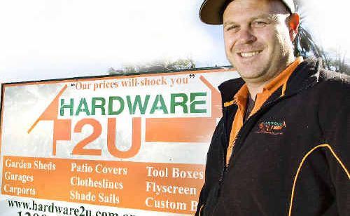 Ballina hardware trader Scott Asbey-Palmer now makes 95% on his sales online since setting up his online company, Hardware2U.