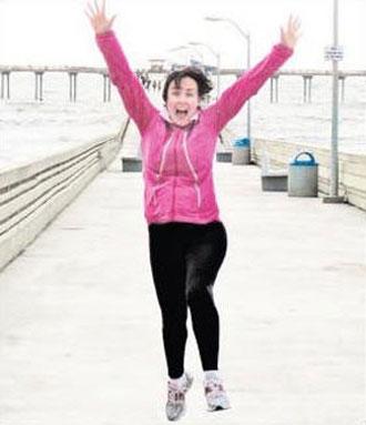 Marathon Woman: Former Toowoomba resident Shannon Meiklejohn.
