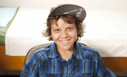 Jacob Thurlow has a big smile, becoming a local celebrity after starring in the Telehealth television commercial.
