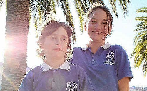 Jock and Willow Belford-Pillar look forward to longer days of sunshine.
