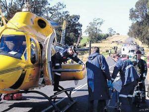 Riders injured in crash