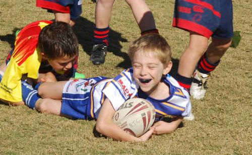Emerald Brothers rugby league juniors found plenty to smile about when they clashed with Blackwater Crushers at the weekend. See page 19 for more pictures and results.