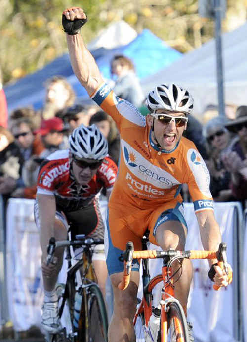 Nathan Haas wins last Sunday's Tour of Toowoomba criterium.