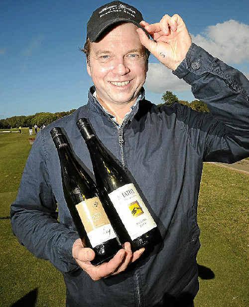 Evan Jones at the Winemakers' Golf Tournament.