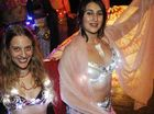Lucy Broomhall (left) and Celeste Toonen, of Lismore, with the rest ofthe Innana's Temple Dancers, showed off their belly-dancing skills while taking part in the Lismore Lantern Parade.