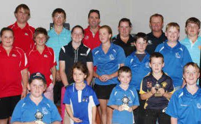 Gross and nett winners from the recent Emerald Junior Golf Open were all smiles.