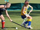 Stephanie Mills works the ball in Gympie's win against Mackay.