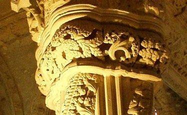The Apprentice Pillar inside Rosslyn Chapel.