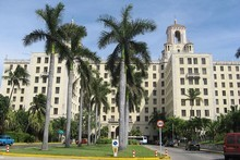 The Hotel Nacional, as seen from the city-side.