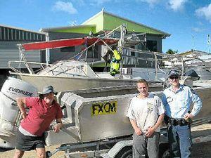 Boaties rescue man
