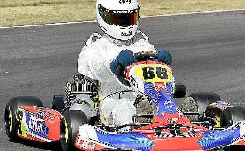 Sean Butcher takes to the raceway.