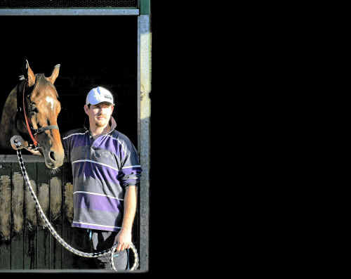 Trainer Shane Everson with horse Starlist - running Grafton Cup Prelude on Thursday.