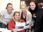 Centacare's HomeStay team on the Fraser Coast consists of Fiona Macdonald, Rhonda Perkins (co-ordinator), Kylie Shore and Brooke Anthony.