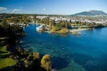 Stock Photo: A magnitude-6.5 earthquake struck near Taupo and was felt widely throughout the country.