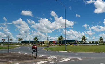 An artist's impression of the Bunnings Warehouse to be built at the Holts Rd and Mackay-Bucasia Rd intersection.