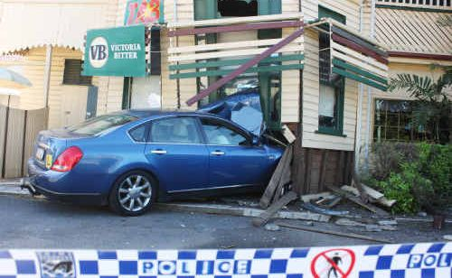 The Nissan Maxima that crashed into the hotel was driven by a 25-year-old who was receiving a driving lesson.
