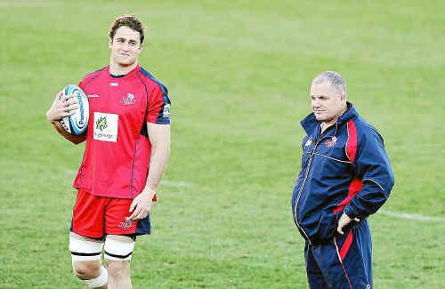 Queensland Reds captain James Horwill (left) and coach Ewen McKenzie.