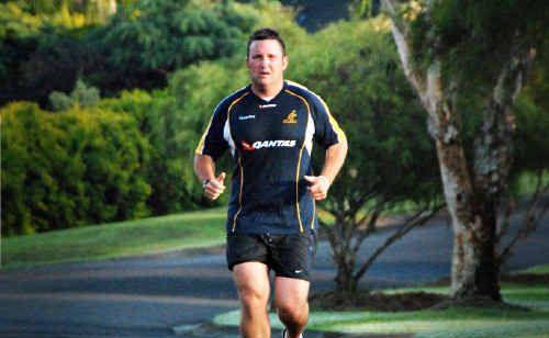 Geoff Lobegeier in training ahead of the 10km run.