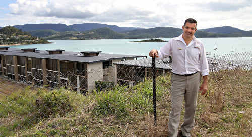 PRD Nationwide CEO Rob Taylor stands on some of the last direct ocean view land in Airlie Beach.